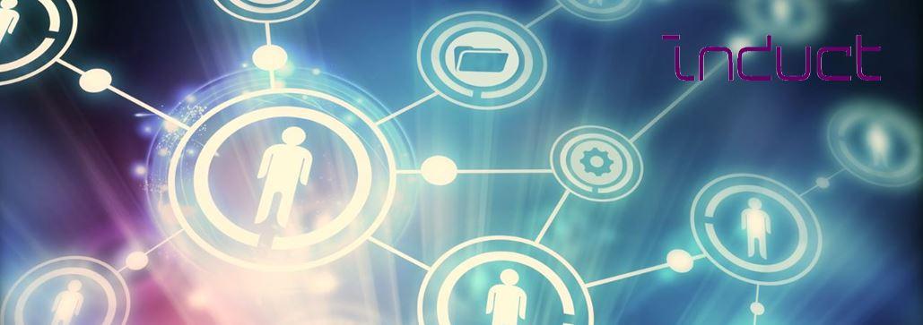 Grafik: Digitale Verknüpfung von Mitarbeitern zur Innovationssteigerung